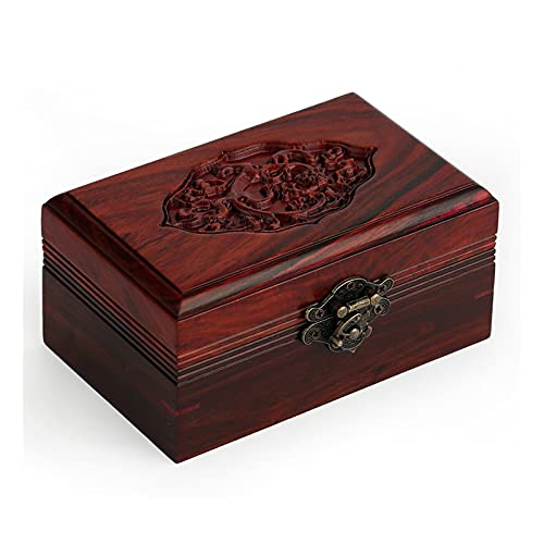 hkwshop Scatola di Gioielli Handmade Decorative Wooden Jewelry Box Gioielli Organizzatore Keepsake Box Treasure Treasure Titolare Titolare Titolare Scatola di immagazzinaggio Portagioie da Viaggio