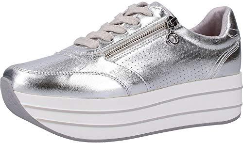 s.Oliver 5-5-23641-22 Damen Sneakers Silber, EU 38