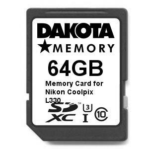 Tarjeta de Memoria Ultra Alta Velocidad de 64 GB para Nikon Coolpix L330