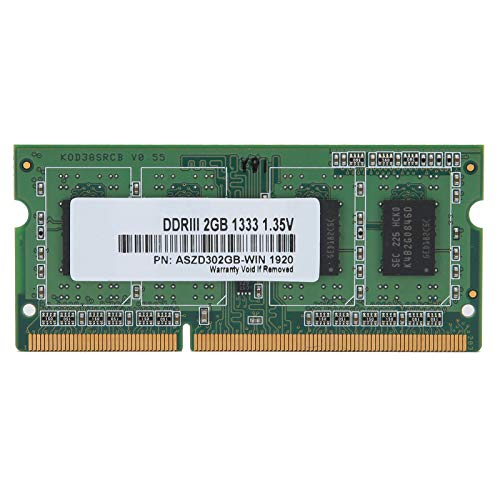 PUSOKEI Memoria RAM DDR3, 1333MHZ 2GB 1.35V DDR3 RAM Memoria para computadora portátil Banco de Memoria para computadora portátil PC...