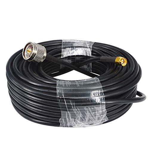 YILIANDUO WiFi Antennenkabel mit geringem Verlust 15 Meter (49,2 Ft) N Stecker auf SMA Stecker RG58 Koaxial Flexible 50 Ohm für CB Amateur Funkgerät 3G 4G LTE Schinken ADS-B 4G DTV Industrieller