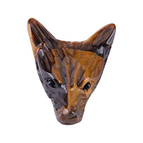 Zopsc-1 Colgante de Cabeza de Lobo, Piedra de Ojo Natural Pura, Mano de Obra Fina, Colgante de Lobo, cómodo para Amigo, Mujer, Regalo, Hombre