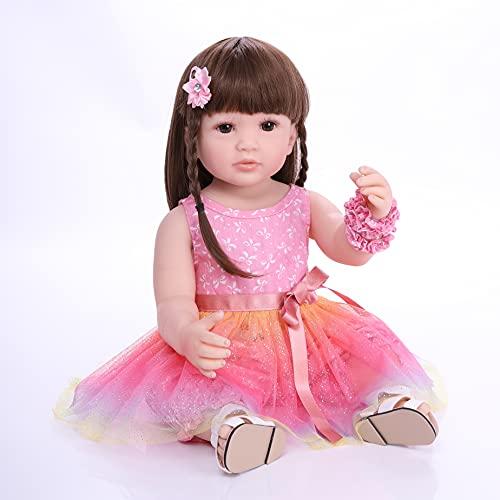 ZIYIUI Bambole Reborn Femmine Originale 22 Pollici 55 cm Bambole Reborn in Silicone Bambole che Sembrano vere Realistica Bambole Reborn Toddler Ragazzo Ragazza Giocattolo Regalo Neonato