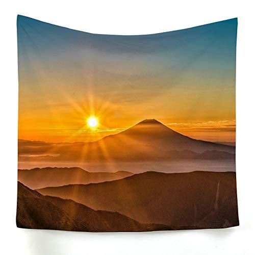 ANAZOZ Tapiz de Tela para Pared Poliéster Tapiz Indio Salida del Sol y Montaña Naranja Tapiz 230x150CM