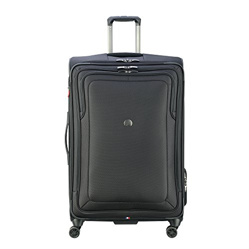 DELSEY Paris Cruise Lite Softside 29' Exp. Spinner Suiter Trolley, BLACK, One Size