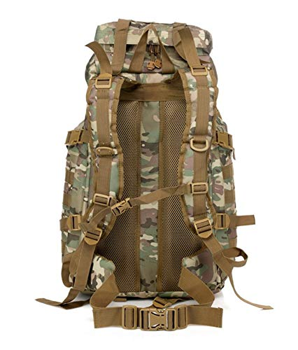 Poulbee Tactical Backpack 70L Military Storm Backpack for Hiking Camping Outdoor 5 Day Attack Bag