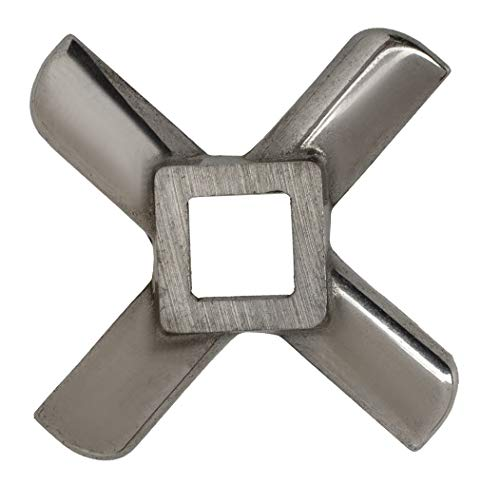 Replacement Meat Grinder Blade - Size #8 - Universal Stainless Steel Blades for Meat Grinders - Grinding Accessories Parts
