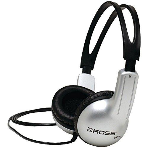 """Koss Casque stéréo """"UR10"""" (Over-Ear, casque fermé, avec fil de 1,25 m, 60 - 20000 Hz, jack 3,52mm mâle) Noir/Gris"""