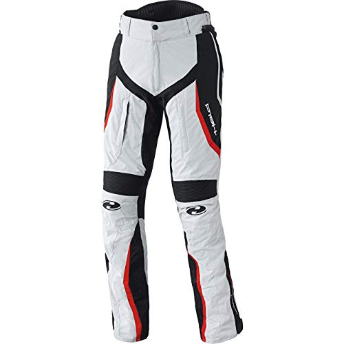 Held Link sportliche Motorrad Textilhose, Farbe grau-rot, Größe S