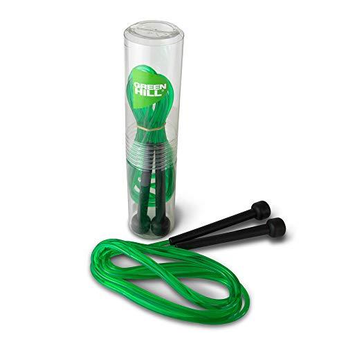 CORDA DA SALTO JUMP ROPE PLASTICA CAVO SINTETICO PVC BOXE PUGILATO GREEN HILL (VERDE)