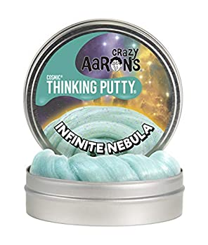 Crazy Aaron s Thinking Putty 4  Tin - Cosmic Infinite Nebula - Multi-Color Sparkle Glow Putty Soft Texture - Never Dries Out