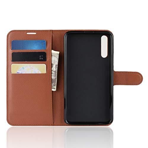 TenYll Hülle für Huawei Honor Magic 2,Wallet Tasche PU Schutzhülle [Premium Leder] [Ultra Slim] [Card Slot] [Ständer] Flip Wallet Hülle Etui für Huawei Honor Magic 2 -Braun