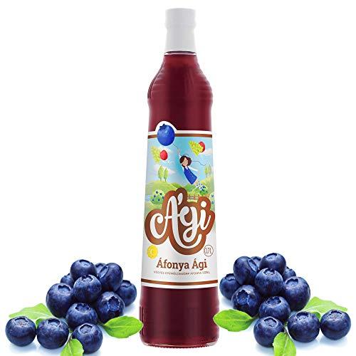 Agi Fruchtsirup   mit Vitamin C und 33% Fruchtgehalt   Soda Sirup für Wassersprudler in Glasflaschen   Bubble Tea Sirup   Getränke sirup für Mineralwasser 700ml(Heidelbeeren)