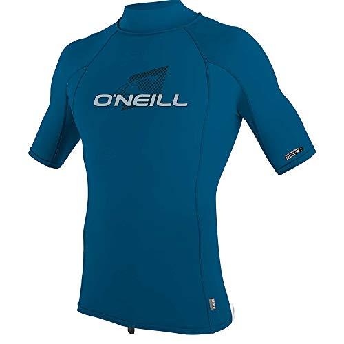 O';Neill Herren Skins Short Sleeve Rash Vest Top - Blau - UV - Protection und SPF Properties - Performance Fit