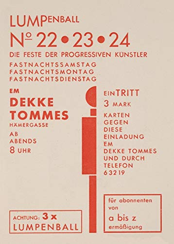 Franz Wilhelm Seiwert 'Da ist er wiEder Hurra der Lumpenball No 1', Alemania, 1929, Reproducción 200 g/m² Vintage Bauhaus Constructivism Art Poster