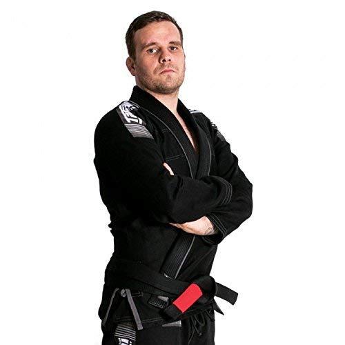 Tatami Nova+ más BJJ Gi Negro Jiu Jitsu Kimono Uniforme - Cinturón Blanco Gratis - Negro, A3L