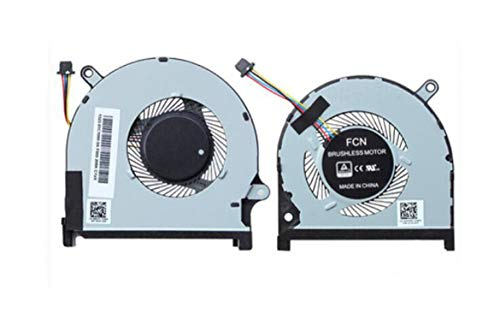 HuiHan Replacement for Dell Inspiron 7591 7590 Laptop CPU & GPU Cooling Fan 0MPHWF 0861FC