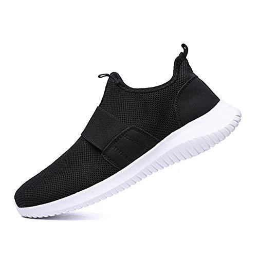 [JINGQUAN京泉] スニーカー スリッポン メンズ バンド 靴紐なし 軽量 大きいサイズ 幅広 通勤 通学 カジュアル 24.5-28cm