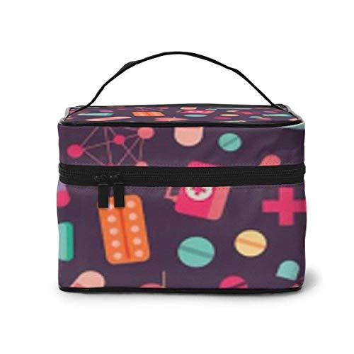 Trousse de Premiers Soins Boîte Voyage Cosmetic Case Organizer Portable Artist Storage Bag, Multifunction Case Toiletry Bags