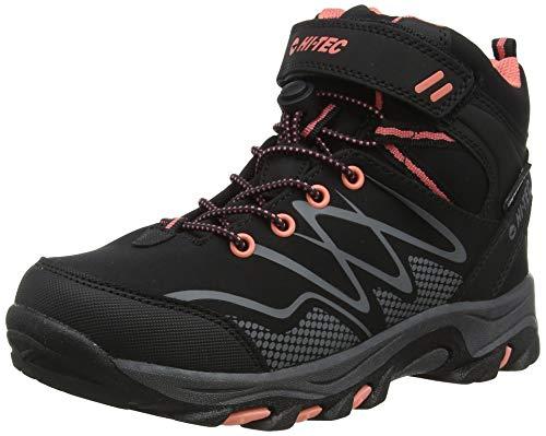 Hi-Tec Unisex kinderen verduistering MID WP JRG hoge stijgen wandelen laarzen, (zwart/roze 21), 3 (35 EU)