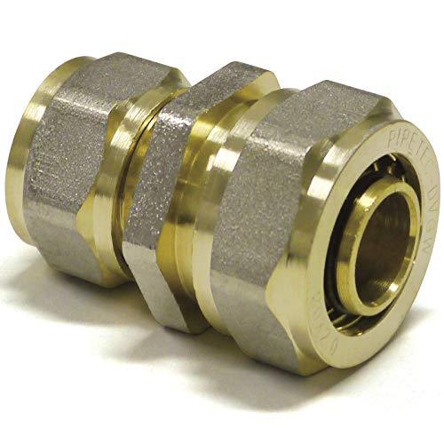 BiBa-Schrauben   20 x 2-16 x 2   Schraubfitting-Reduzierung   DVGW Zulassung   Pipetec   Fittings   (1 Stück)   Alu Verbundrohr   Schraubfittings