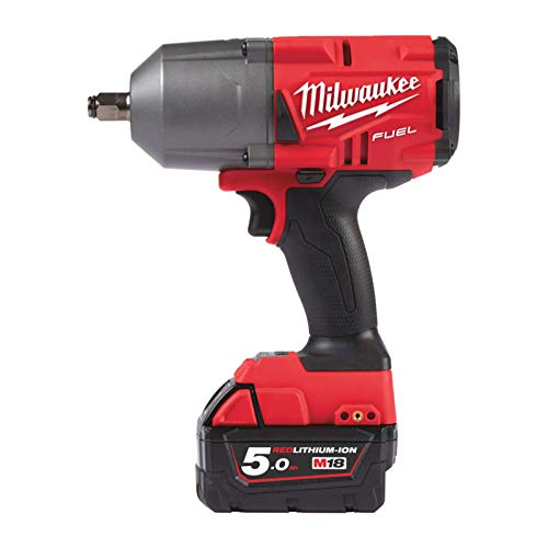 Milwaukee 00 Fuel M18 FHIWF12-502X-2 - Cargador de baterías de 5 Ah-1, M12-18FC 4933459696, 18 V, color rojo