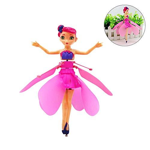 Flying Fairy Doll, Flying Princess Fairy Drone Doll con luces de inducción infrarroja Helicóptero RC, el mejor regalo para niños de 8 años.