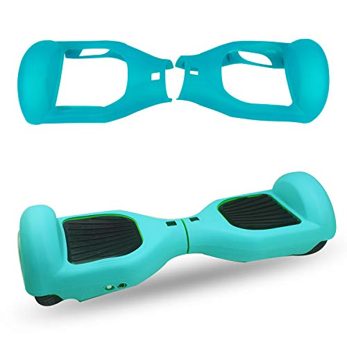 ABBY Hoverboard Hülle Silikon Schutzhülle für 6,5 Zoll 2 Rader Smart Self Balancing Elektro Scooter Cover (Hellblau)