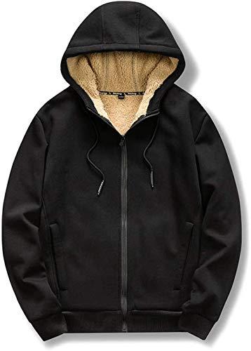 HAOKE Sudaderas otoño/invierno talla grande suéter bordado grúa suelto para hombre, más suéter de terciopelo con capucha para mujer, chaqueta negra _2XL (color: negro, talla: XL)