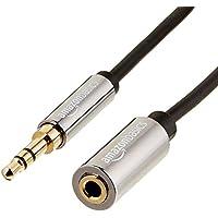 AmazonBasics - Cable alargador de audio estéreo (conector 3,5 mm macho a hembra, 1,8 m)