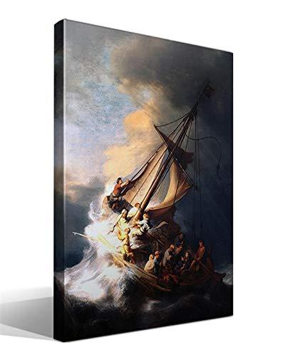 Cuadro Canvas La Tormenta en el Mar de Galilea de Rembrandt Harmenszoon Van Rijn