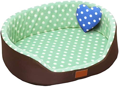 UIZSDIUZ Haustierbett Hundebett Large Memory Foam, Orthopädische Hundebett & Sofa Verbesserter Schlaf, mit Anti-Rutsch-Boden, Katzenbett (Color : Style2, Size : L(60×50×18cm/10kg))