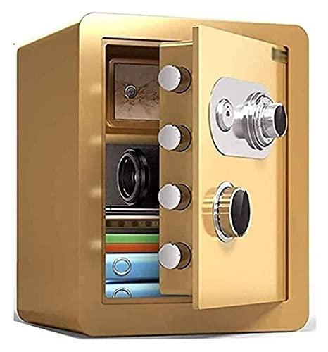 Cajas Fuertes para el hogar Cajas de Seguridad para Dinero Cajas Fuertes para gabinetes Cajas Fuertes para el hogar Resistentes al Fuego Impermeables con Cerradura de combinación mecánica Caja