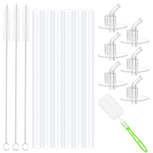 Hysagtek 16 Pcs Replacement Straws Set for Kids Thermos Funtainer 12...