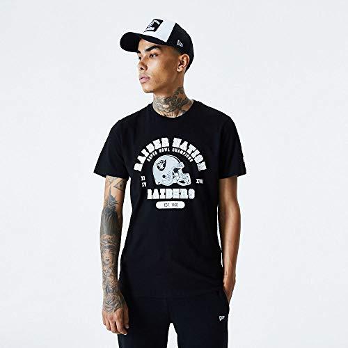 New Era Camiseta Oakland Raiders Modelo NFL Helmet and Wordmark tee OAKRAI Marca