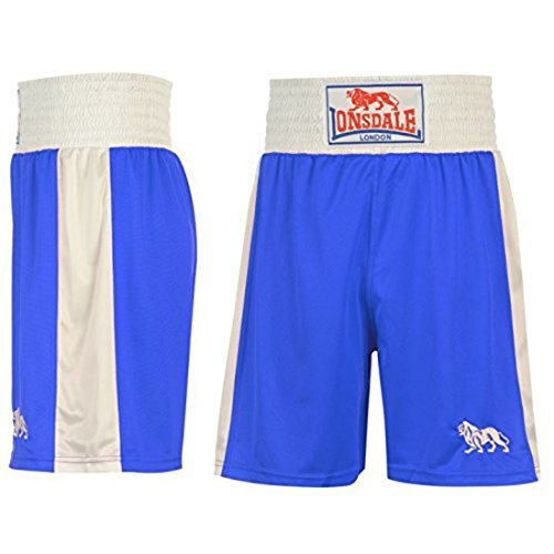 Lonsdale Herren Boxing-Shorts, kurze Hose, Training-Shorts, Sporthose Small blau / weiß
