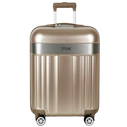 TITAN Spotlight Flash 831404 4-Wheel Suitcase Trolley Hard Shell L 76 cm Metallic Gold