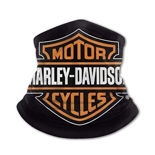 N/A Harley Davidson Hommes Et Femmes en Microfibre Cache-Cou Guêtre Extensible Couverture du Visage Demi-Masque Tube Écharpe Polyvalence Bandana Bandeau Chapeaux Cagoule