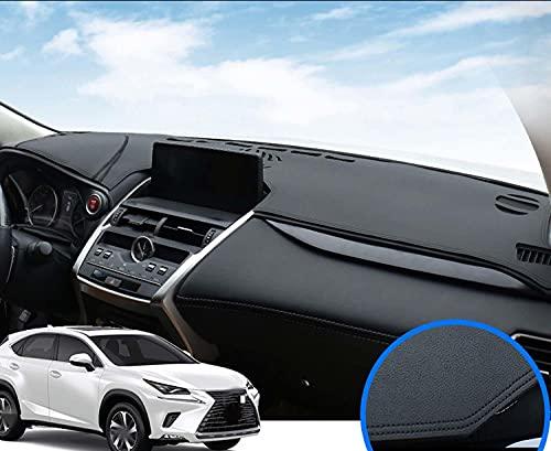 NUIOsdz Cubierta del tablero de instrumentos Alfombrilla Parasol Evitar la luz Tablero de tablero Protector de alfombra Decoración, para Lexus NX series NX300H NX200T 2015-2018