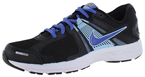 Nike Women's Dart 10 Black/Ice Blue/Metallic Silver/Violet Force 5 D - Wide