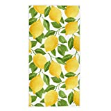 Naanle Chic Fresh Lemon Leaves Pattern Soft Highly Absorbent Guest Large Home Decorative Hand Towels Multipurpose for Bathroom, Hotel, Gym and Spa (16 x 30 Inches)