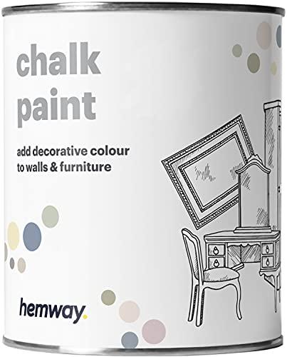 Hemway - Kreidefarbe für Möbel & Wände - matt - renoviert - 1 Liter - Weiß