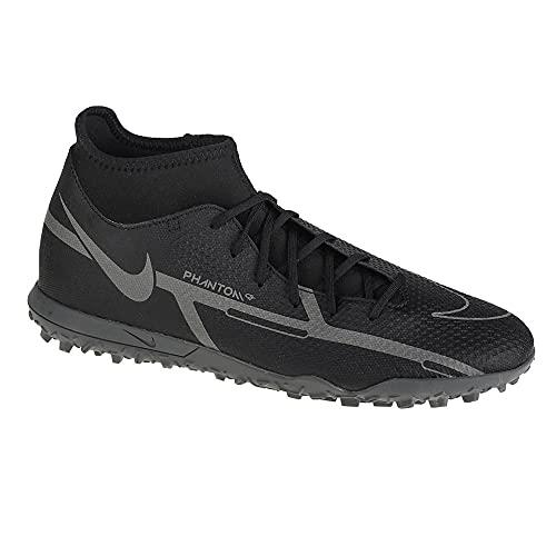 Nike Phantom GT2 Club Dynamic Fit TF, Scarpe da Calcio Unisex-Adulto, Black/Iron Grey-Mtlc Bomber Gry, 39 EU