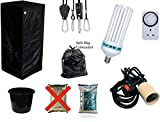 Best Complete Hydroponic Small Grow Room Tent Canna CFL Light Kit 40x40x140 (0.4x0.4x1.4Meter terra 10 liter...