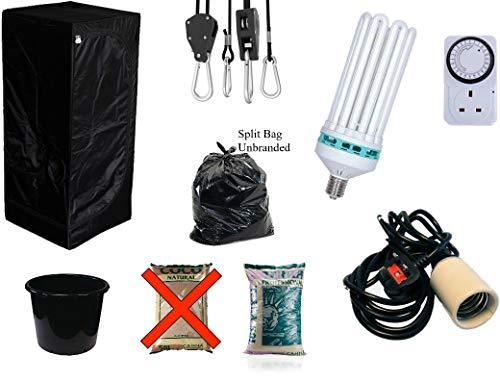 Best Complete Hydroponic Small Grow Room Tent Canna CFL Light Kit 40x40x140 (0.4x0.4x1.4Meter terra 10 liter (timer))