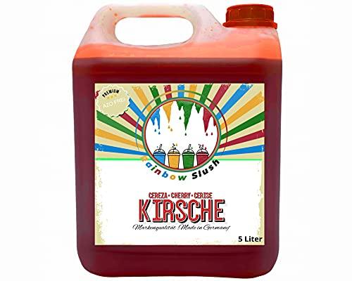 Rainbow Slush Sirup AZO FREI   Geschmack Kirsche   Konzentrat für Slushy Maker Eis Slushmaschinen Eismaschinen Getränke 1:5