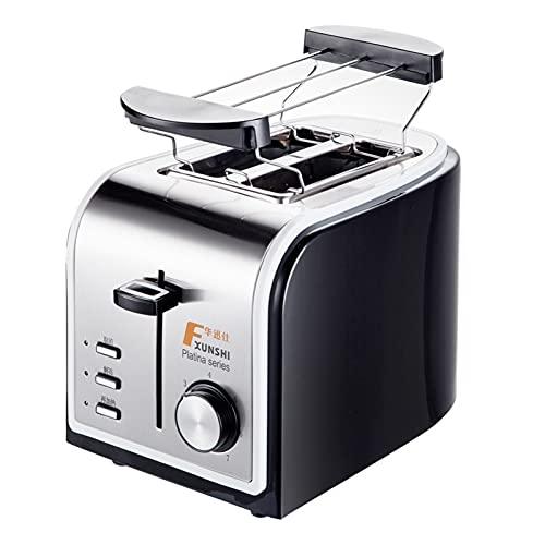 tostadora Máquina for hornear for el hogar Máquina eléctrica Tostadoras de acero inoxidable Máquina de desayuno Máquina de tostadas Horno de parrilla 2 rebanadas