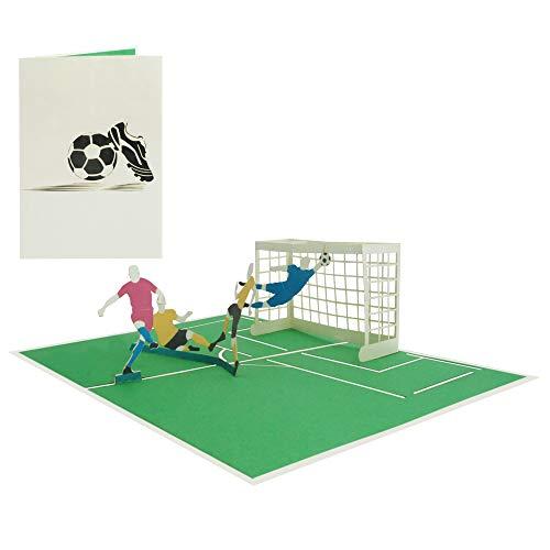 Fußball Pop Up Karte Geburtstagskarte Fußballspieler Fußballfans Gutschein Grußkarte Sport Glückwunschkarte - Fußball Spiel 166
