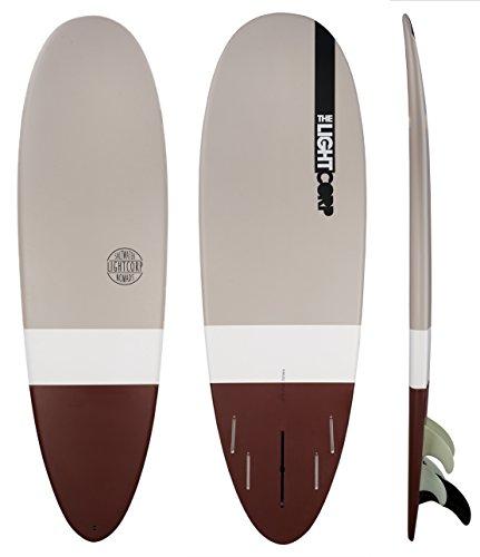 Light Minilog Bown Epoxy-US+Future Surfboard, Brown/White/Grey, 6'0