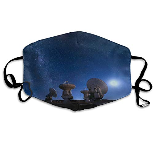 Radio Antenne Astronomie Satellieten Frequentie Parabolische Unisex Volledige Dekking Buis Gezicht Masker Bandanas UV Bescherming Hals Gaiter Hoofdband